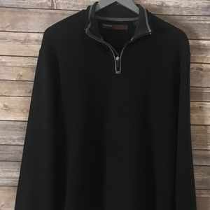 Perry Ellis Black and Grey Sweater